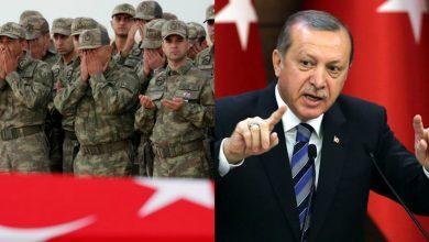 صورة أردوغان يؤكد استهداف تركيا 46 موقعاً لنظام الأسد رداً على مقتل 4 جنود أتراك قرب سراقب.. وإيران وروسيا تعلقان