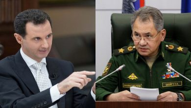 صورة شويغو حمل رسالة حازمة من الكرملين للأسد.. وروسيا قد تسحب قواتها من سوريا في حال توسع انتشار فيروس كورونا