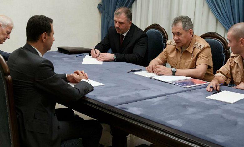 وزير الدفاع الروسي يلتقي بشار الأسد