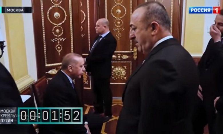 فيديو انتظار أردوغان لبوتين