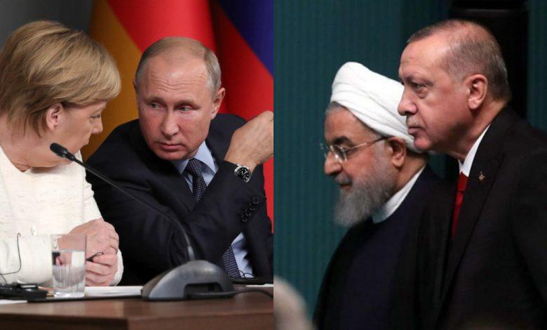 بوتين يبحث مع أردوغان وروحاني ملف إدلب