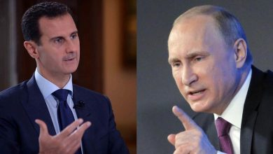 """صورة صحيفة أمريكية: صبر """"بوتين"""" نفد من """"بشار الأسد"""""""