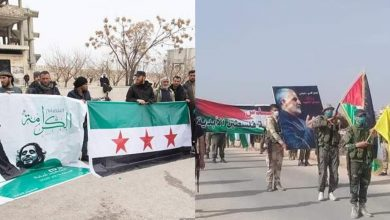 """Photo of إيران تحتفل بـ """"يوم القدس"""" في سراقب.. وناشطون معارضون يدعون لإقامة صلاة العيد على طريق """"M4"""" جنوب إدلب"""