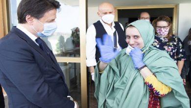 """صورة اعتنقت الإسلام وغيرت اسمها إلى """"عائشة"""".. فيديو للمواطنة الإيطالية التي حررتها الاستخبارات التركية"""
