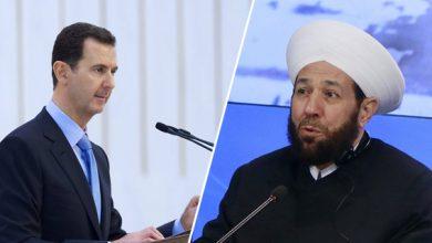 """صورة بشار الأسد لم يتلقى أي رسالة تهنئة بعيد الفطر للمرة الأولى منذ توليه الحكم.. و""""أحمد حسون"""" يدعو المهجرين للعودة"""