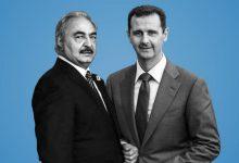 """صورة بشار الأسد يدعم """"حفتر"""" ضد تركيا.. ما دور الإمارات؟"""