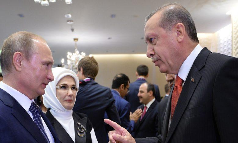 بوتين وأردوغان يبحثان الملف السوري