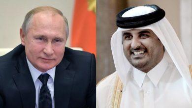 صورة بوتين وأمير قطر يبحثان ملف الحل السياسي في سوريا.. والاتحاد الأوروبي يواصل الضغط على نظام الأسد