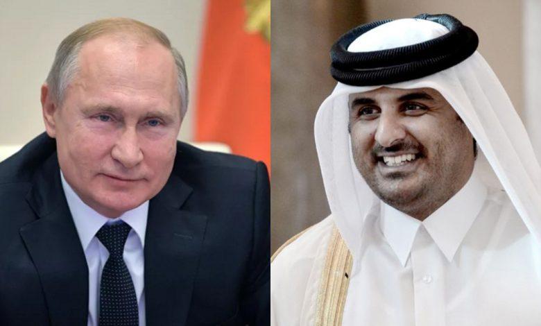 بوتين وأمير قطر يبحثان الملف السوري