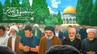 """صورة """"سنصلي في القدس"""".. رسم تخيلي نشره موقع """"خامنئي"""" يوضح قيمة """"بشار الأسد"""" لدى إيران..!"""