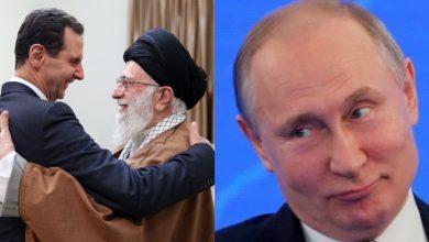 صورة صحيفة تركية: روسيا باعت إيران وبشار الأسد في سوق النخاسة الدولية
