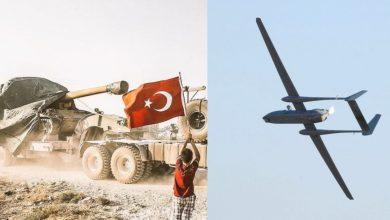 صورة طائرة مسيرة روسية تستهـ.ـدف مواقع في جبل الزاوية.. وتركيا ترسل مدافع ثقيلة إلى إدلب