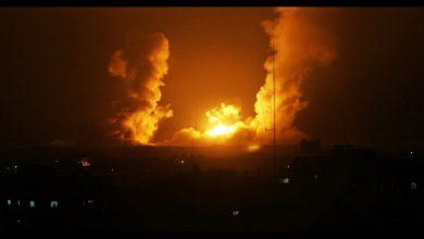 صورة غـ.ـارات إسرائيلية شمال سوريا.. مستودعات نظام الأسد العسكرية تشتعل
