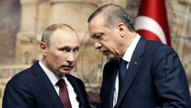 """صورة أردوغان وبوتين يبحثان التطورات في إدلب.. و""""آكار"""" يتحدث عن هروب """"حفتر"""" من ليبيا وتواجده في بلد آخر"""