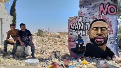 """صورة """"لا أستطيع التنفس"""".. رسالة من إدلب السورية إلى مينيسوتا الأميركية..!"""