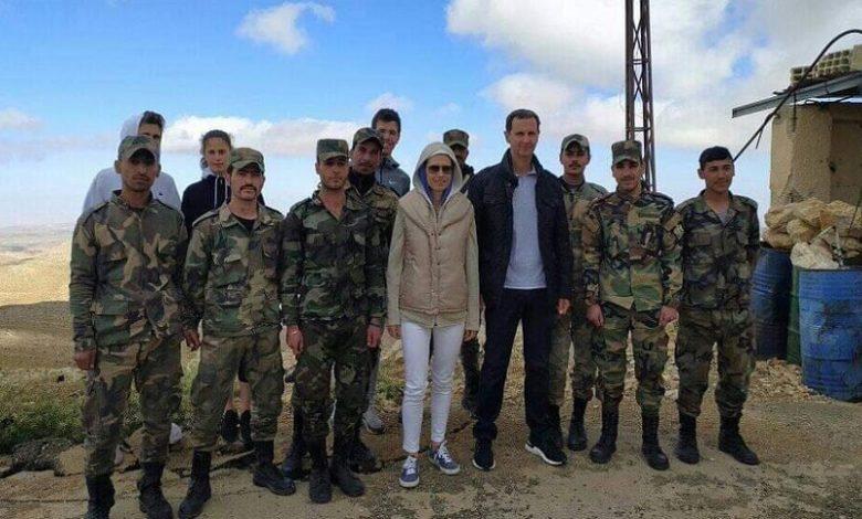 بشار الأسد وزوجته