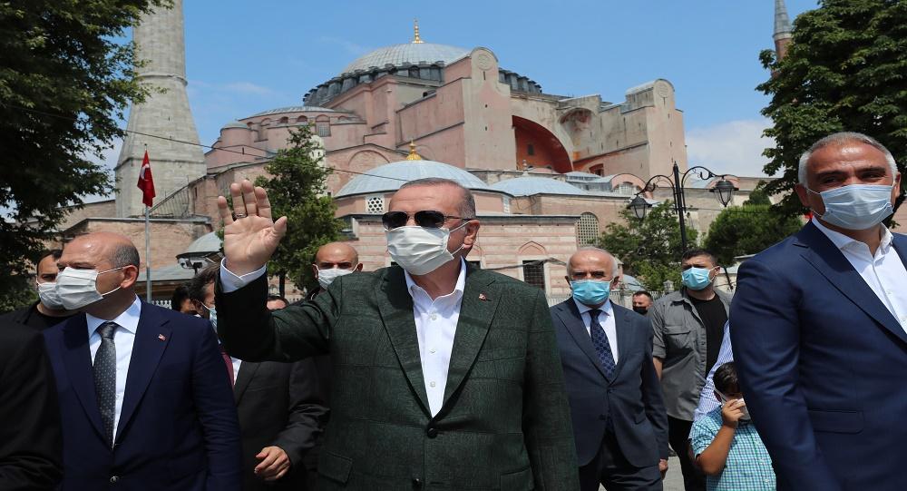 أردوغان داخل آيا صوفيا