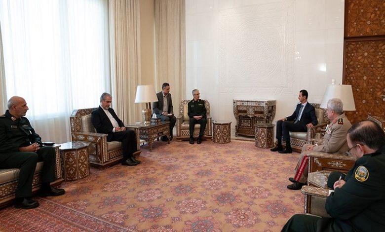 الأسد يجتمع مع رئيس الأركان الإيراني