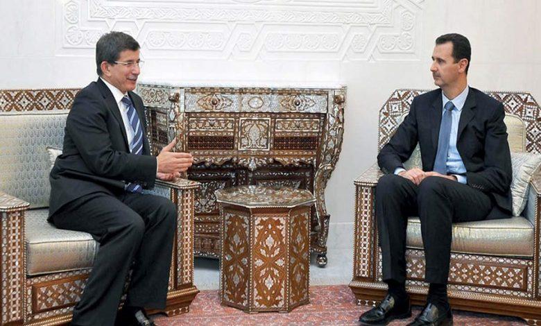 أحمد داود أوغلو بشار الأسد