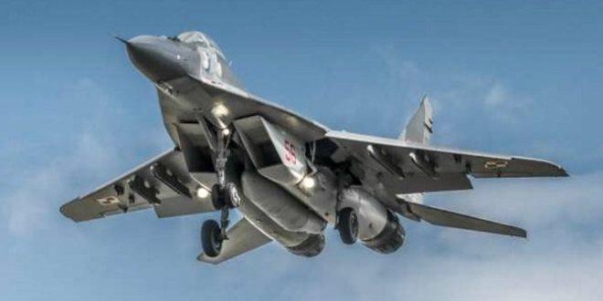 """طائرة """"ميغ 29"""" أثناء التحليق"""