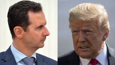 """صورة بشار الأسد يتحدى """"ترمب"""" مجدداً ويصف المساعي الأمريكية بـ """"الخزعبلات السياسية""""..!"""