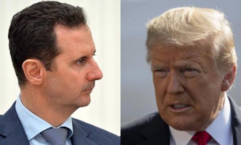 بشار الأسد يتحدى ترمب