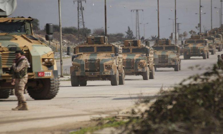 تعزيزات تركية كبيرة تصل إلى إدلب