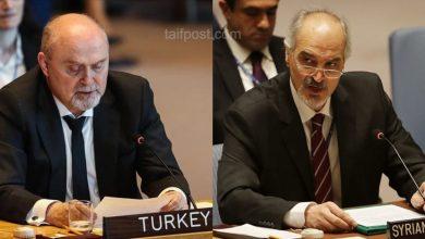 صورة سجال بين ممثلي تركيا ونظام الأسد في مجلس الأمن الدولي بشأن سوريا..!