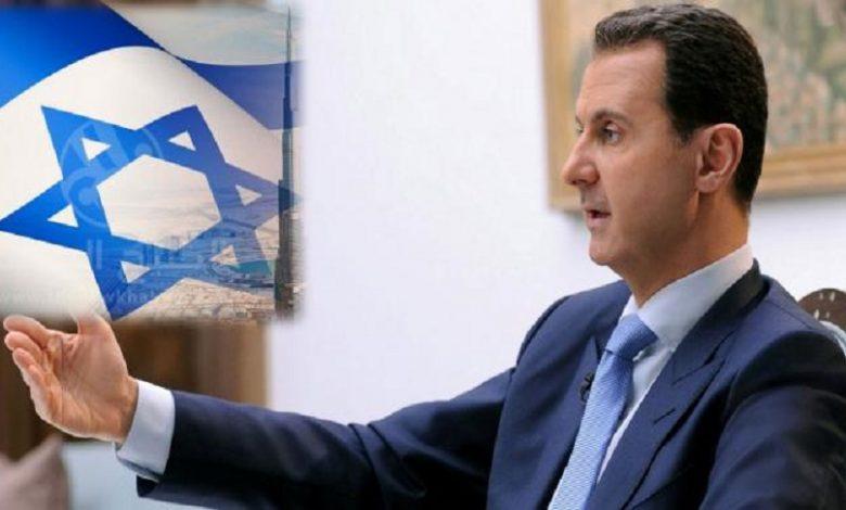 بشار الأسد التطبيع مع إسرائيل
