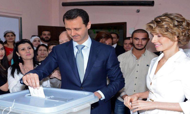 بشار الأسد انتخابات الرئاسة