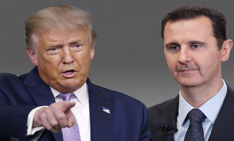 مفاوضات بين ترمب وبشار الأسد