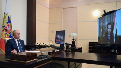 صورة اجتماع بين بوتين وبشار الأسد عبر تقنية الفيديو.. هذه تفاصيله..!