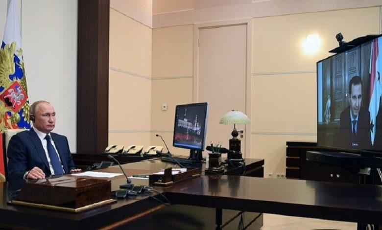 اجتماع بين بوتين وبشار الأسد
