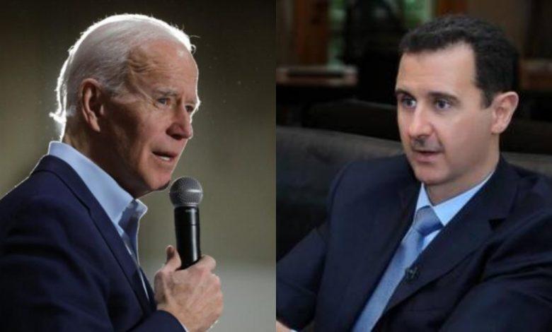 بشار الأسد بايدن