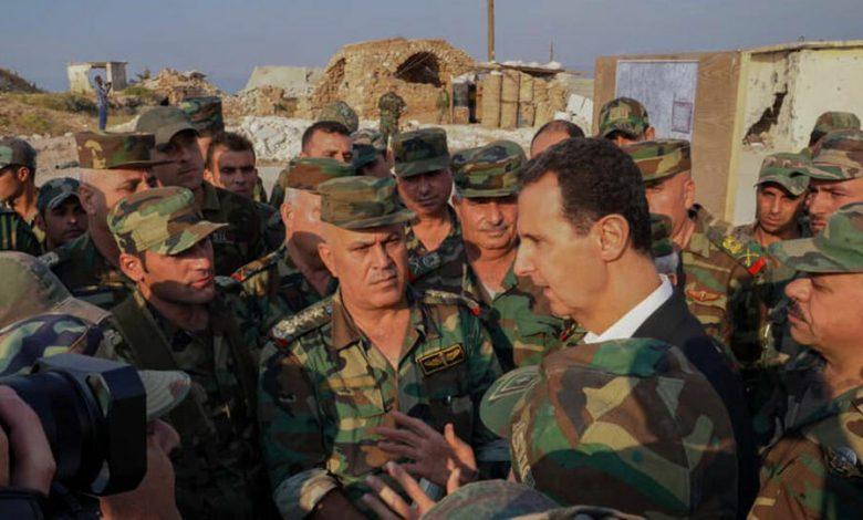 بشار الأسد خدمة الاحتياط