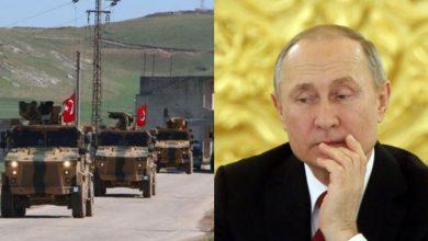 """صورة صحيفة بريطانية تتحدث عن سحب """"بوتين"""" لموافقته على الوجود العسكري التركي في إدلب"""
