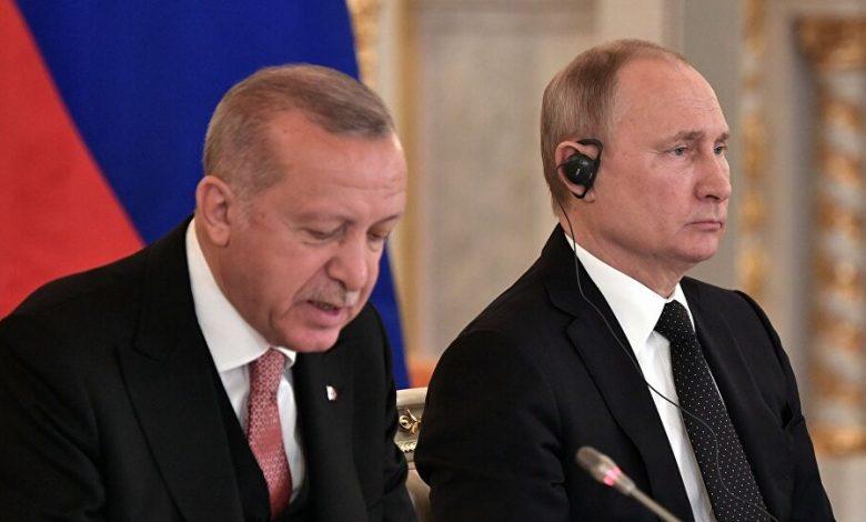 محادثة بين أردوغان وبوتين بشأن إدلب