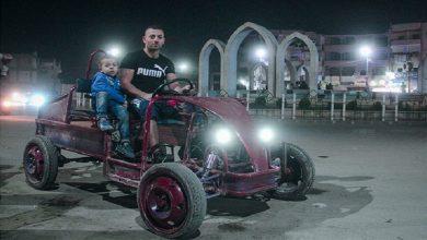 صورة شاب سوري يصنع سيارته بنفسه بسبب ارتفاع أسعار السيارات (صور)