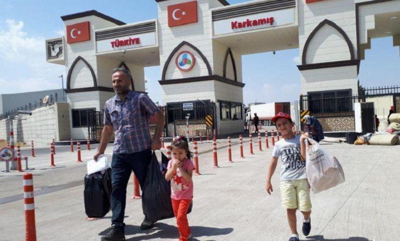 معبر جرابلس عودة السوريين