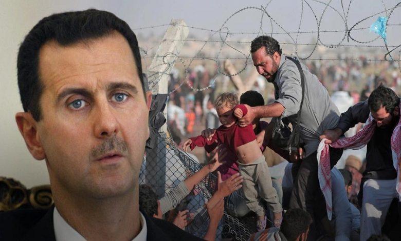 نظام الأسد اللاجئين السوريين