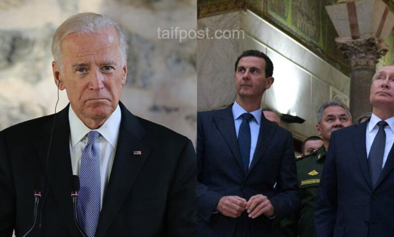 إدارة بايدن وبشار الأسد