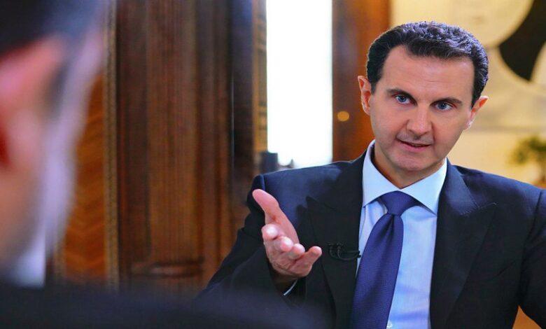 بشار الأسد في القصر