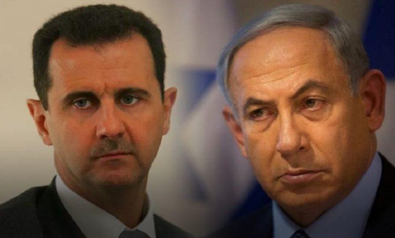 رسالة من بشار الأسد إلى نتنياهو