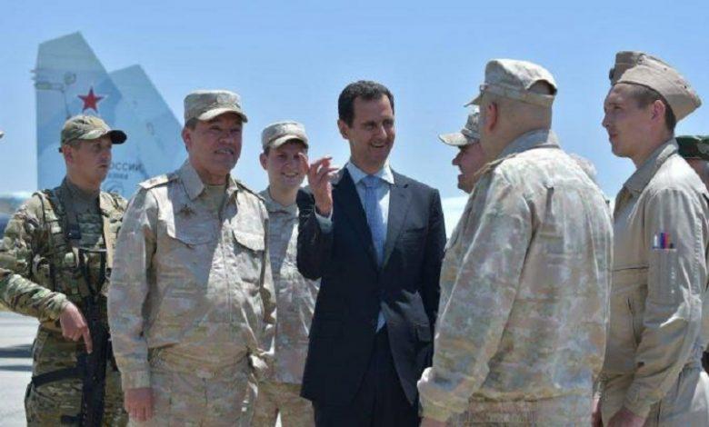 عرض روسي بشار الأسد