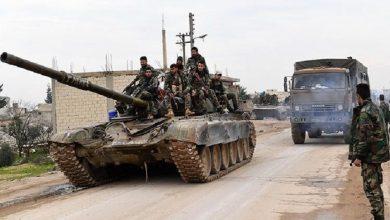 """صورة قوات النظام ترسل تعزيزات عسكرية إلى أطراف مدينة """"الباب"""" بعد اجتماع مع ضباط روس.. ما القصة؟"""