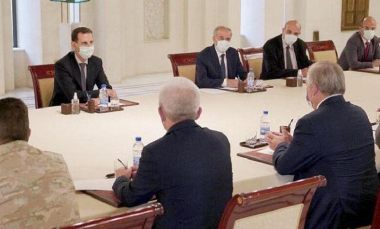 اجتماع بين وفد روسي وبشار الأسد