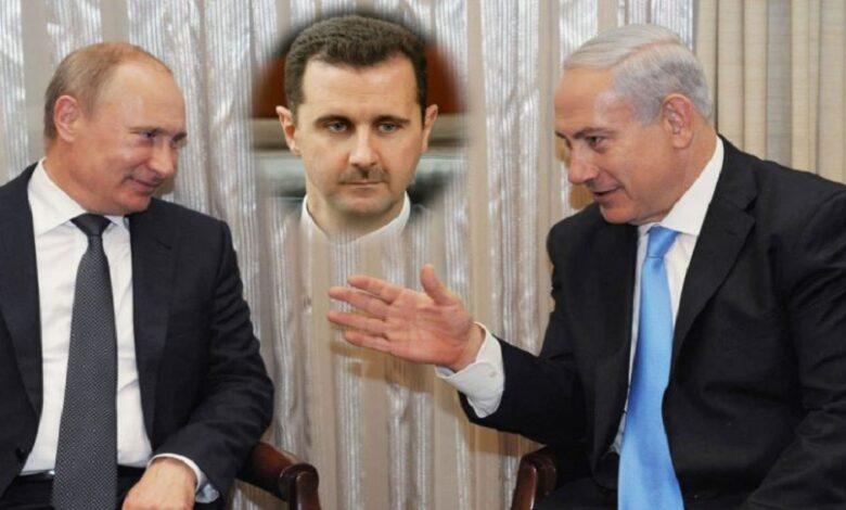 بشار الأسد نتنياهو