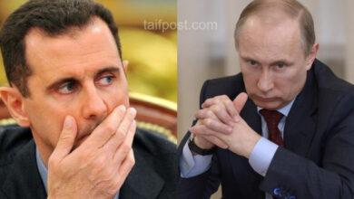 """صورة مصدر مقرب من القيادة الروسية يؤكد أن """"بوتين"""" غاضب من بشار الأسد"""
