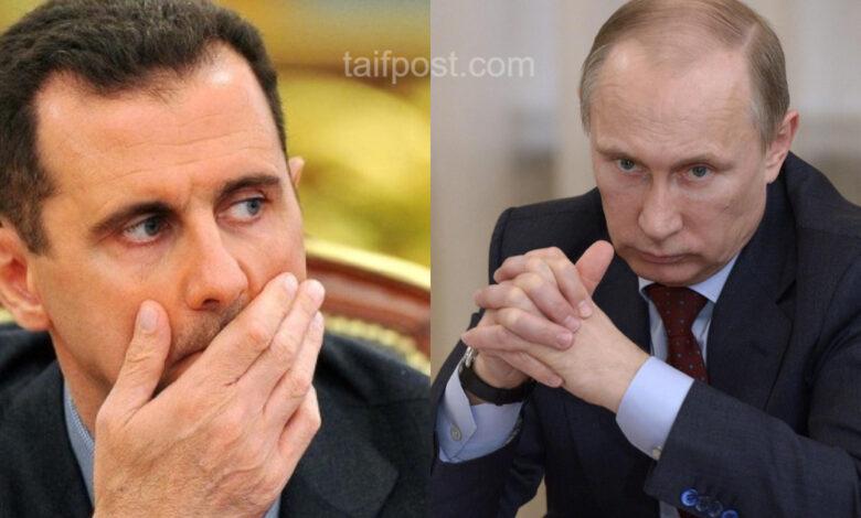 بوتين من بشار الأسد