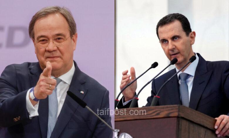 خليفة ميركل بشار الأسد